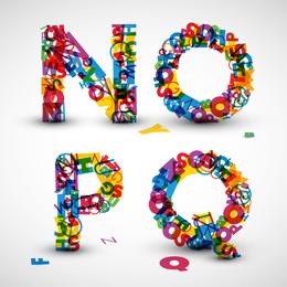 Las letras creativas diseñadas 06 vector