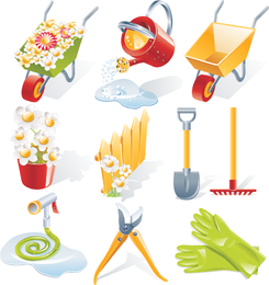 Gartenarbeit-Vektorwerkzeuge