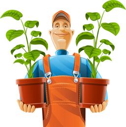 Vektor der Gartenbeschneidungs-Arbeit 02
