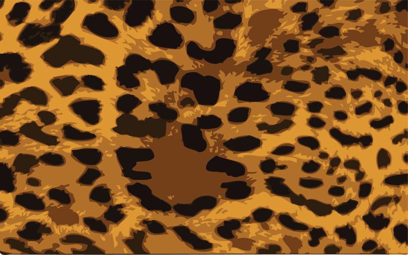 Vector de piel de leopardo