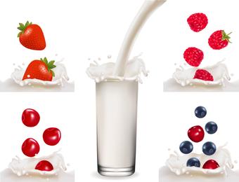 Fruit Milk 03 Vector