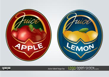 Fruit Juice Label Logo