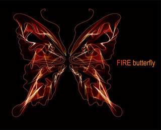 Brilliant Neon Butterfly 05 Vector