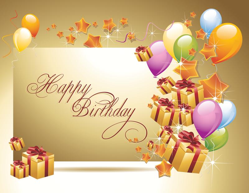Banner Feliz Aniversario: Feliz Aniversário Cartão Postal 02 Vector