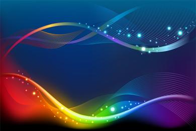 Brilliant Color Dynamic Flow Line 02 Vector