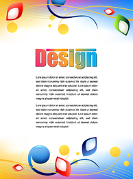 Cartazes de publicidade colorida 01 Vector