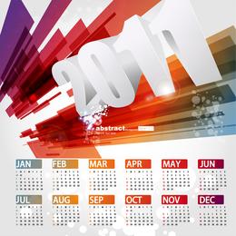 Linda 2011 calendário modelo Vector 3