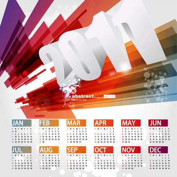 Beautiful 2011 Calendar Template Vector 3