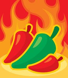 Flame Pepper Vector