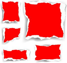 Vector rojo papel picado
