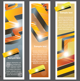 Trend Bookmark Card 02 Vector