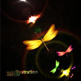 Libélula colorido vector