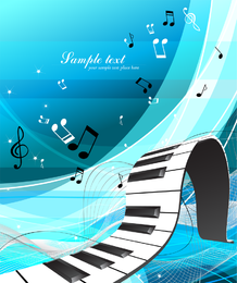 Mundo de vetor de música