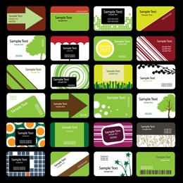 Green Theme Card Template Vector