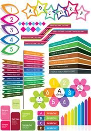 Vetor de gráficos decorativos coloridos 4