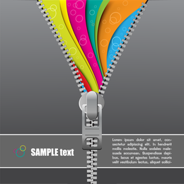 Zipper Theme Vector