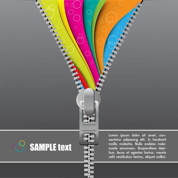 Zipper Theme Vector