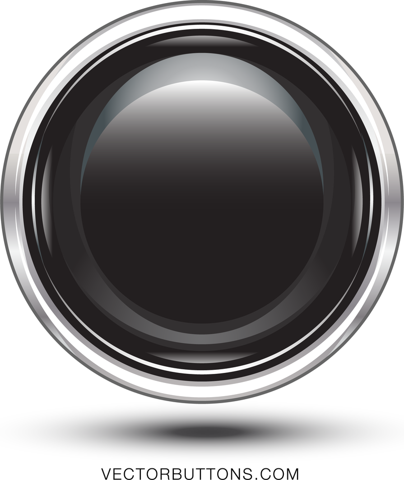Free platinum black circle button vector download for Black circle vector