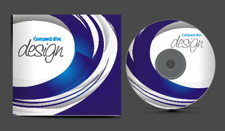 Dynamischer CD-Cover-Vektor