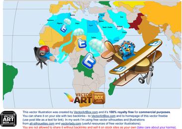 Mapa de Revoluções do Twitter