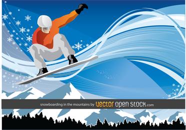 Snowboarden in den Bergen 2