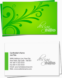 Tarjeta de visita verde del diseño