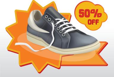 Schuh-Verkaufs-Vektor