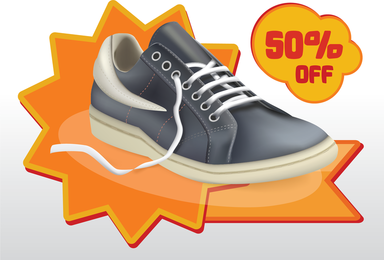 Shoes Sale Vector