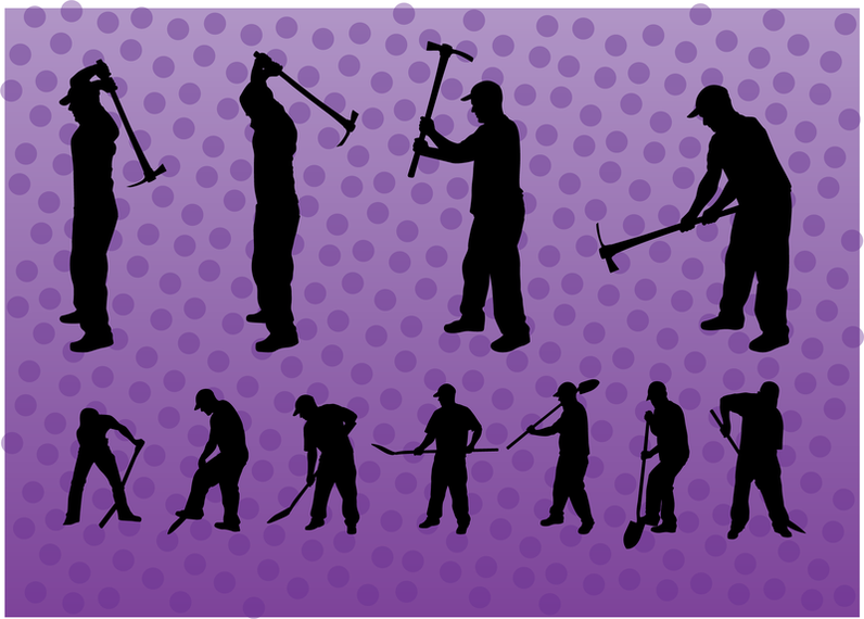 Vetores de escavador