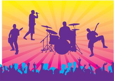 Live-Konzert-Vektor