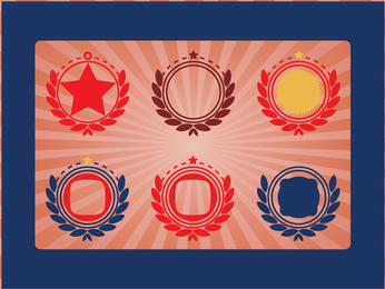 Vetores de emblemas militares