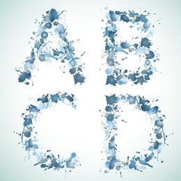 Série de Design de fonte 53 Vector