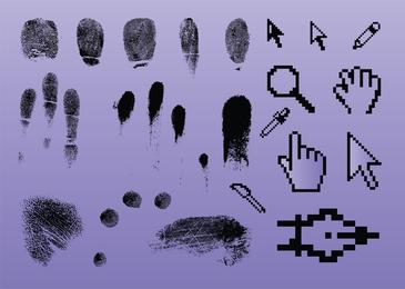 Fingerabdruck-Zeigergrafik