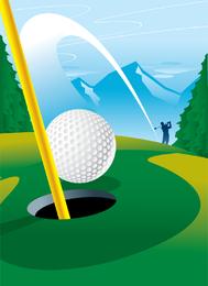 Loch-Golfplatz ein Vektor