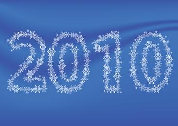 Composición de los copos de nieve del vector 2010