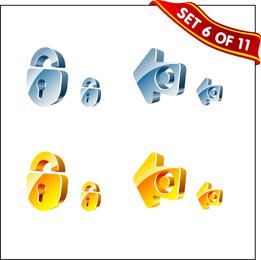3d textura de cristal vector 2