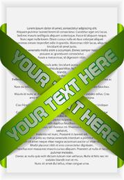 Green Indicates Threedimensional Label 03 Vector