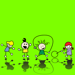 Kinder-Illustrator-Vektor nett