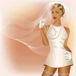 El encanto de la novia Wedding Elements 01 Vector