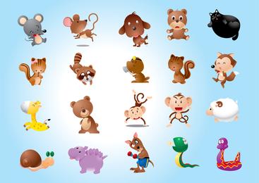 Vectores de personajes animales