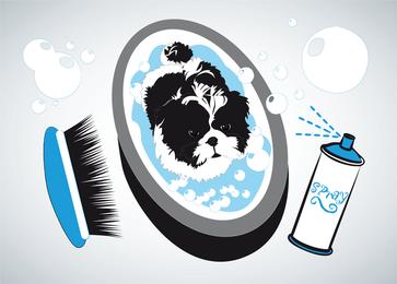 Baño de perro pequeño