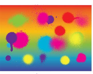 Tinta spray colorida