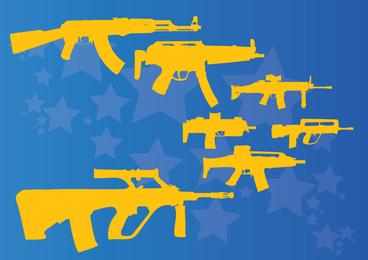 Maschinengewehre und Gewehre