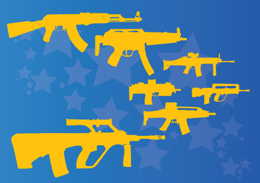 Metralhadoras e rifles