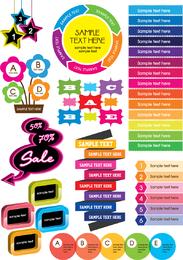 Gráficos decorativos coloridos Vector 1