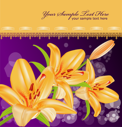 Yellow Lily Vector 5