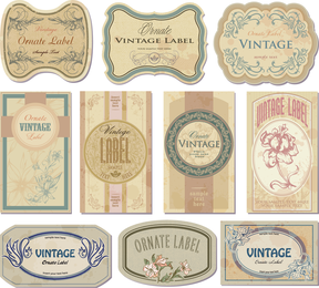 Nostalgic European Label Vector 2