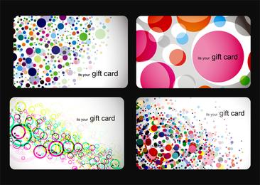Conjunto de 4 plantillas de tarjetas de burbujas