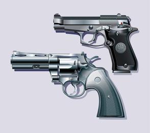 3D gun illustration set
