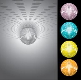 Disco de discoteca laser bola de cristal vector